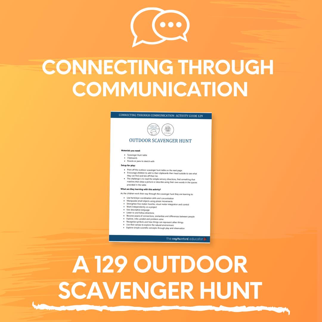 A 129 Outdoor Scavenger Hunt