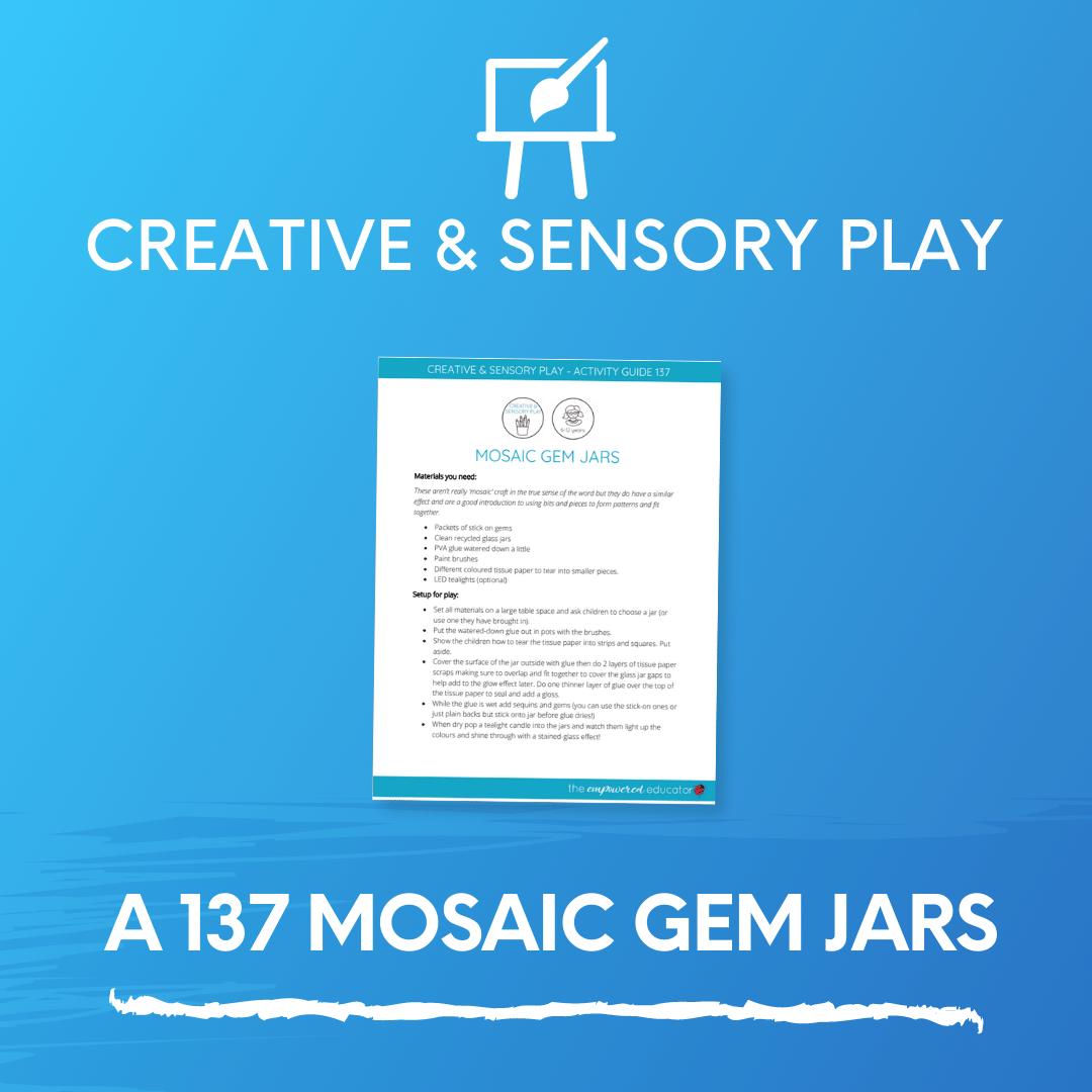 A 137 Mosaic Gem Jars