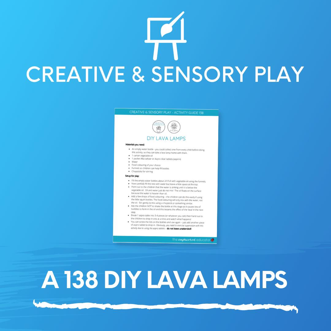 A 138 DIY lava lamps
