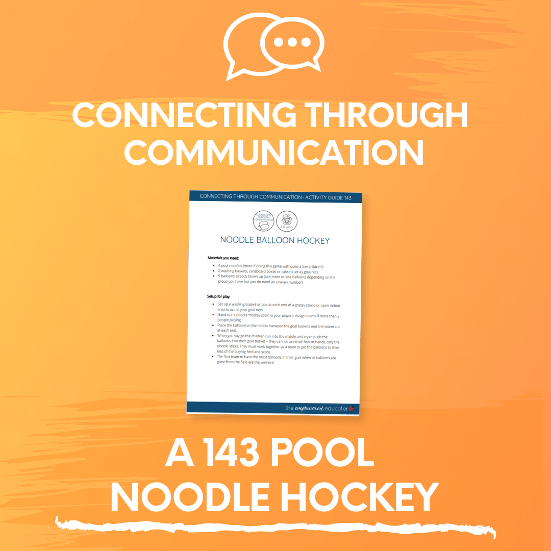 A 143 Pool Noodle Hockey