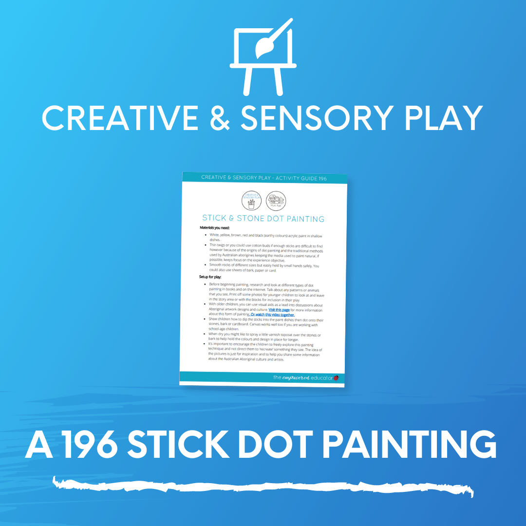A 196 Stick Dot Painting
