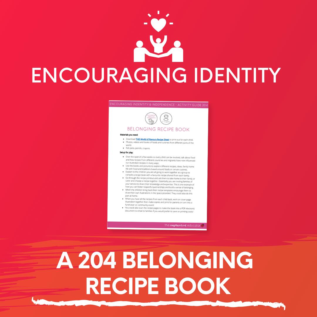 A 204 Belonging Recipe Book