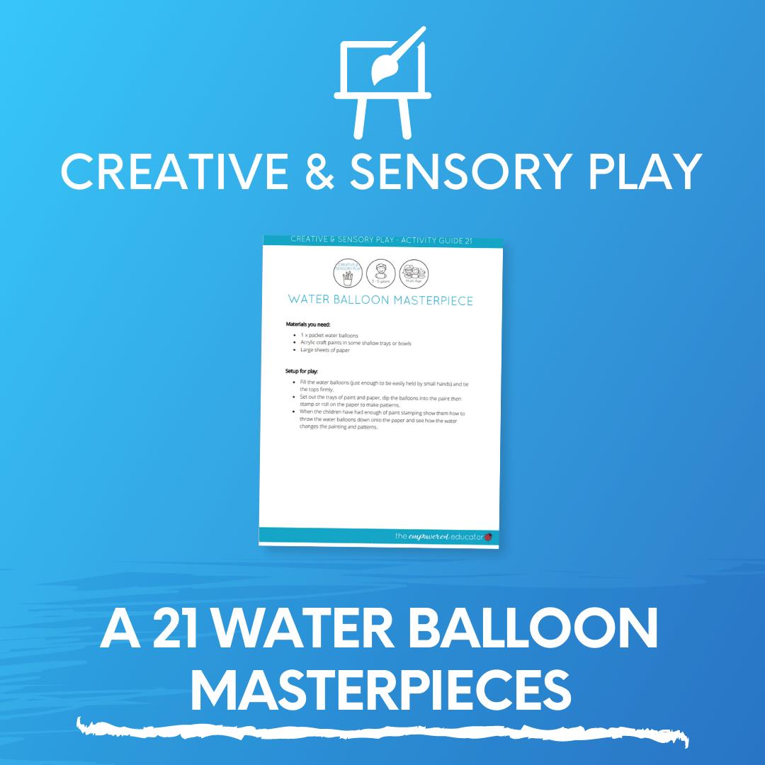 A 21 Water Balloon Masterpieces