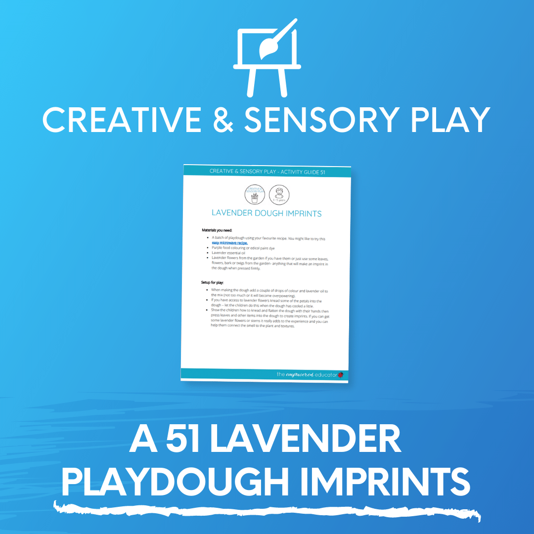 A 51 Lavender Playdough Imprints