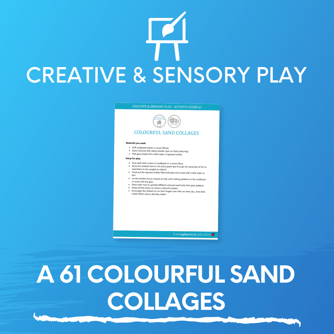 A 61 Colourful Sand Collages