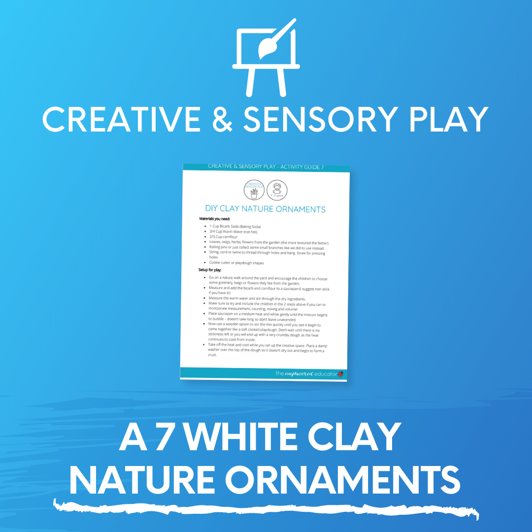 A 7 White Clay Nature Ornaments