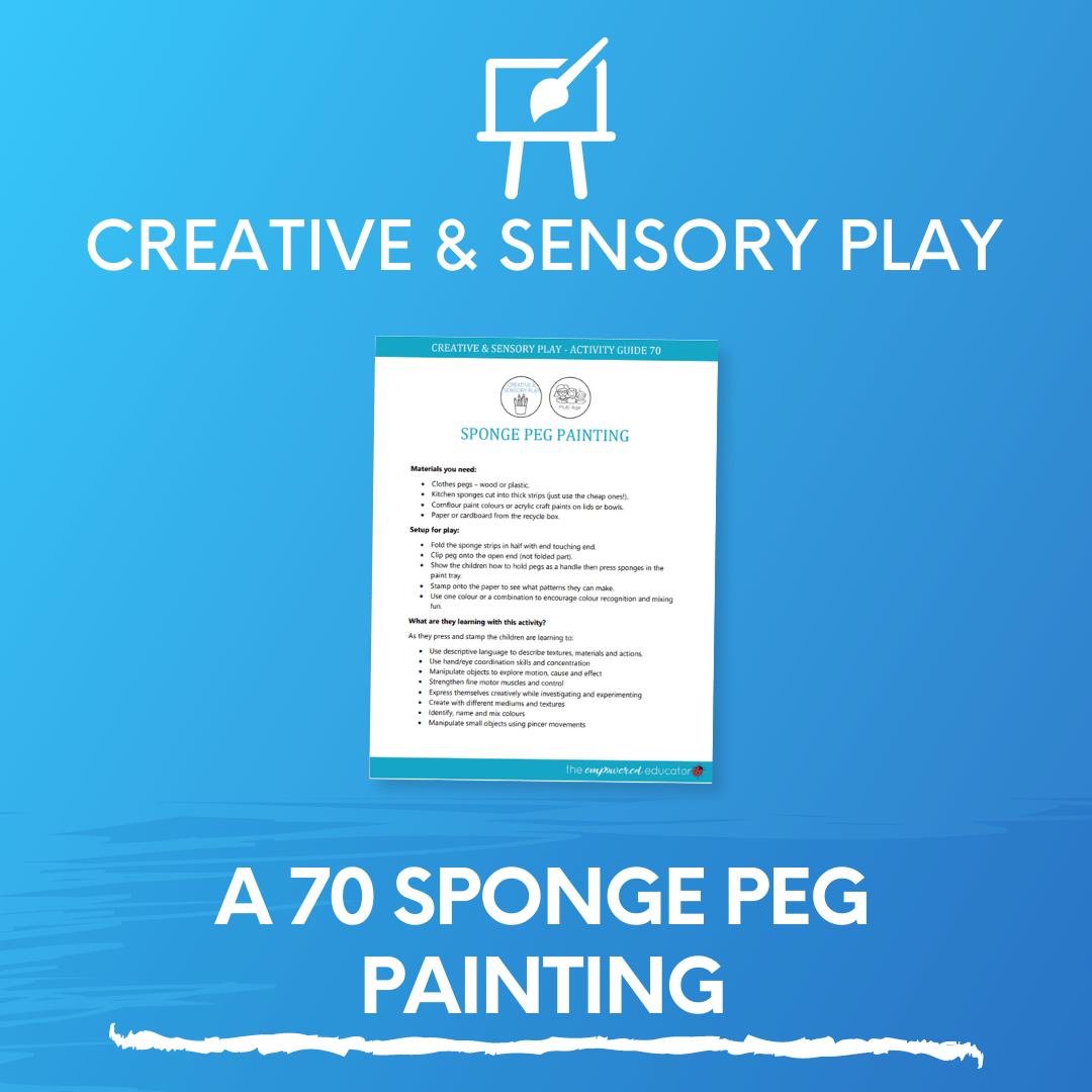 A 70 Sponge Peg Painting