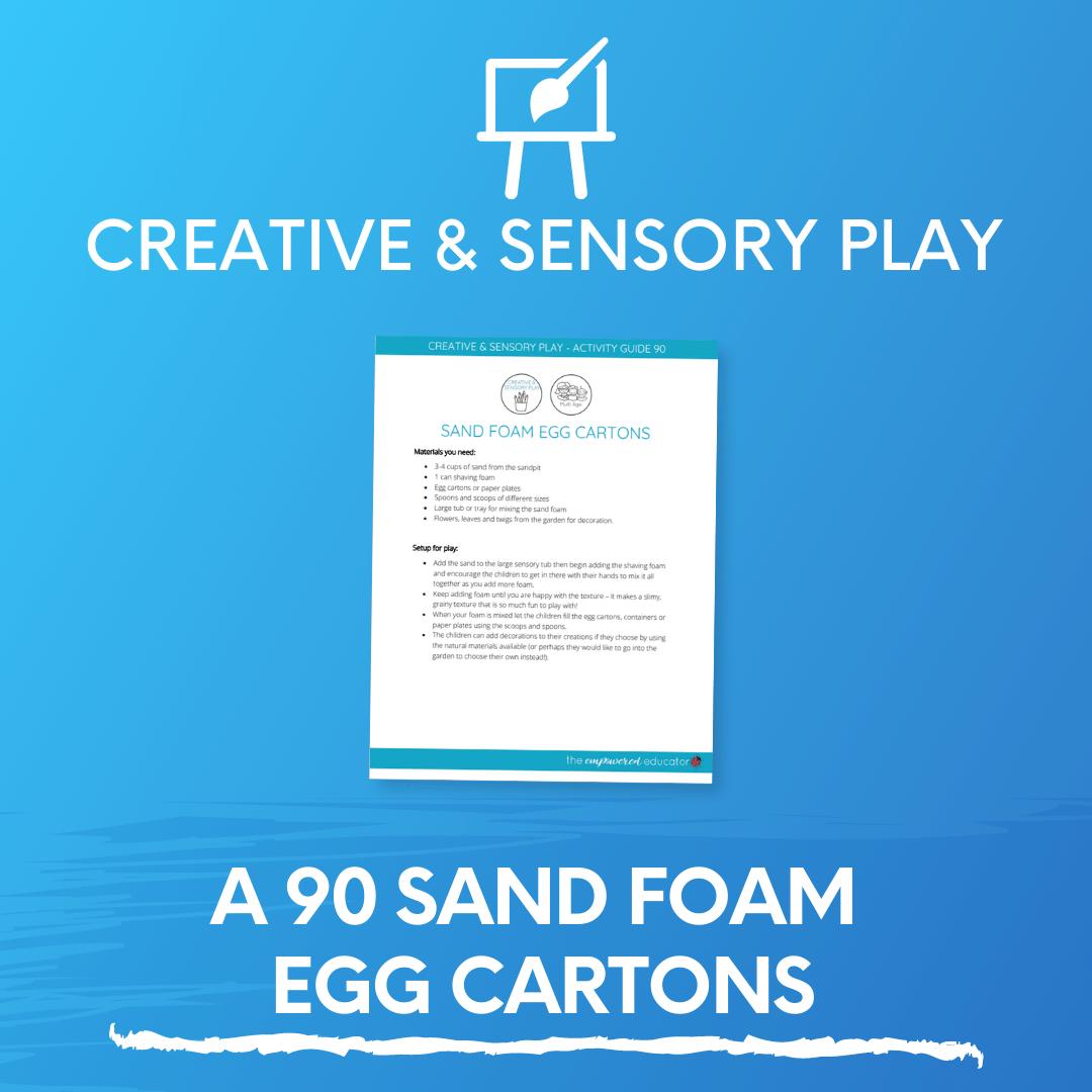 A 90 Sand Foam Egg Cartons