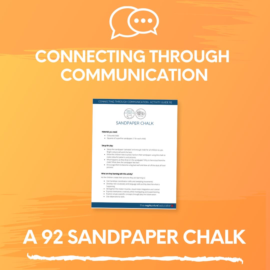 A 92 Sandpaper Chalk