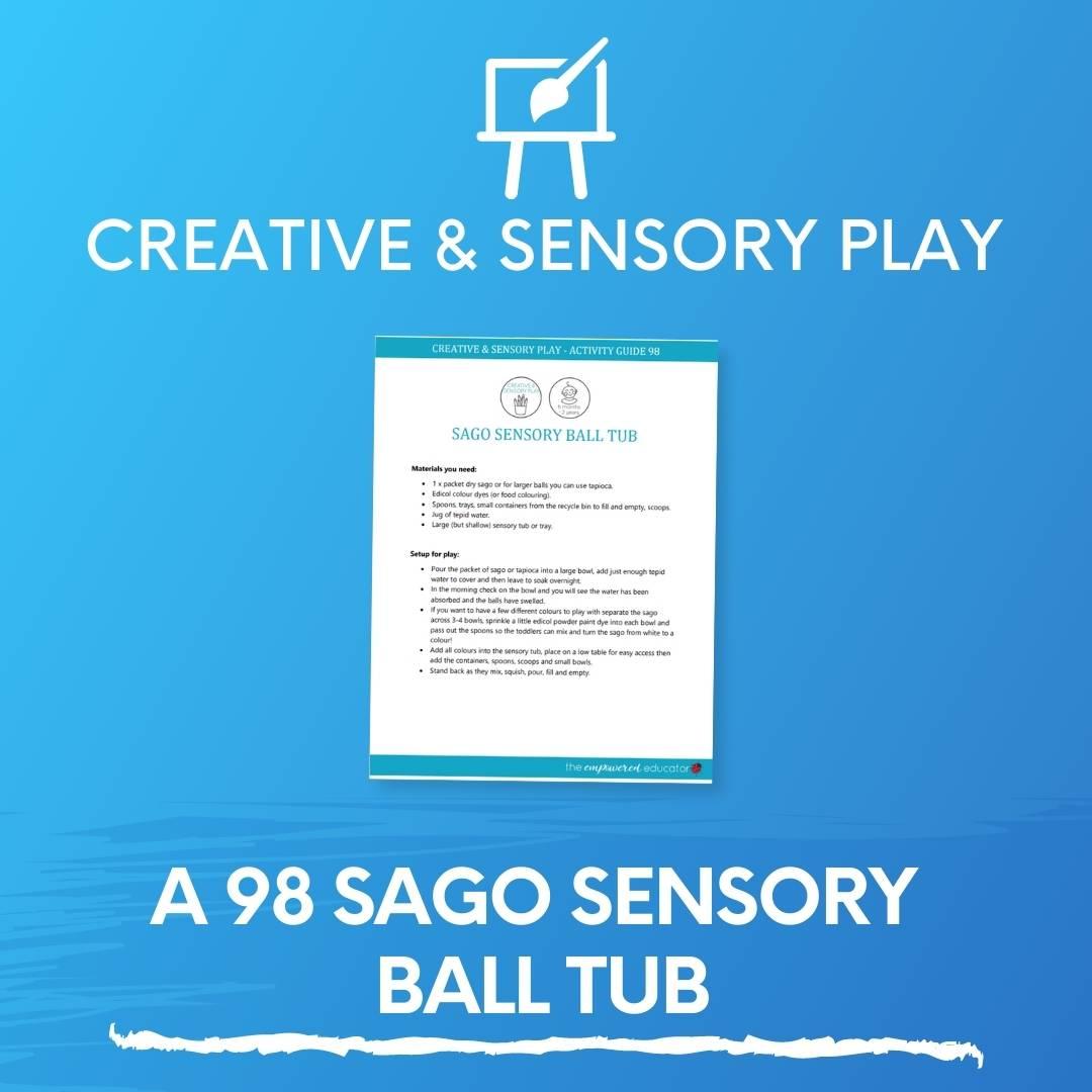 A 98 Sago Sensory Ball Tub