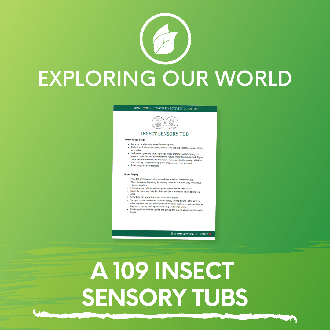 A 109 Insect Sensory Tubs