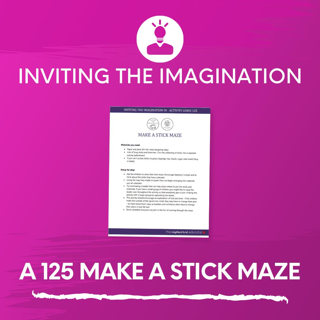 A 125 Make a Stick Maze