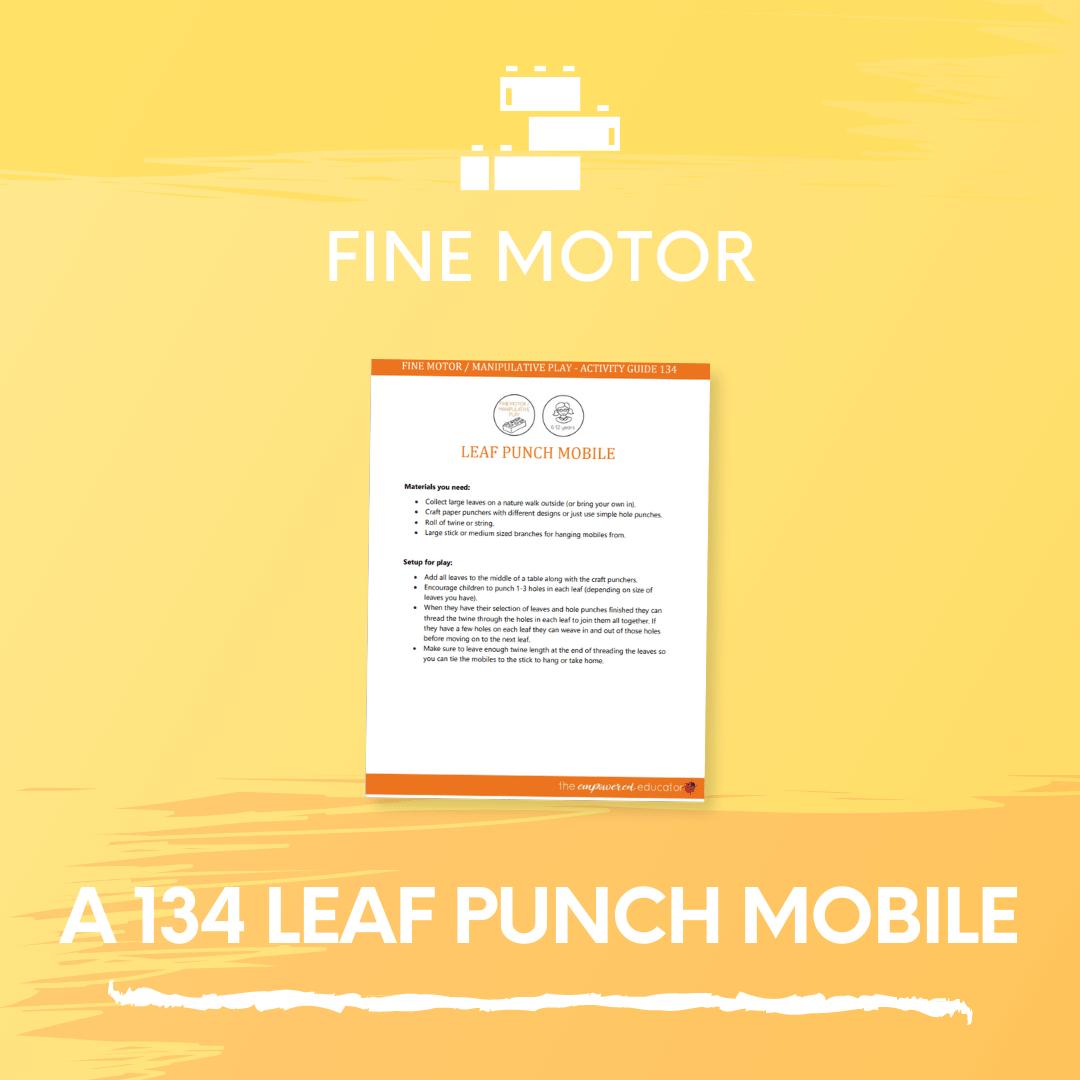 A 134 Leaf punch mobile 2