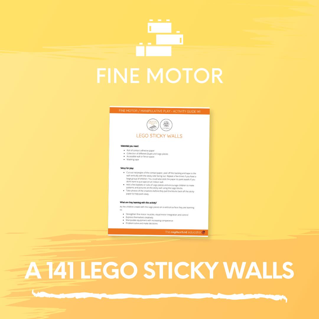 A 141 Lego Sticky Walls 2