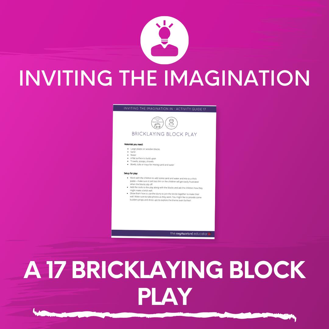 A 17 Bricklaying Block Play
