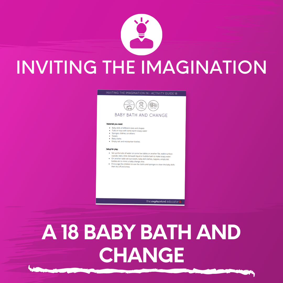 A 18 Baby Bath and Change