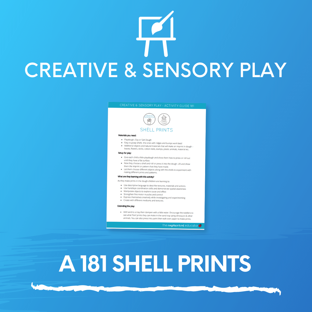 A 181 Shell Prints - CREATIVE AND SENSORY