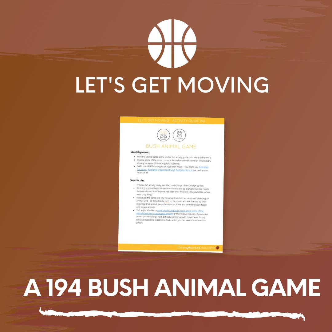 A 194 Bush Animal Game