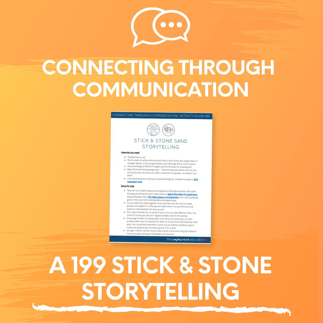A 199 Stick & Stone Storytelling
