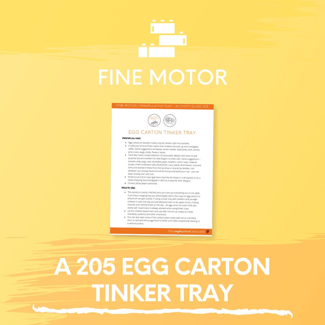 A 205 Egg Carton Tinker Tray