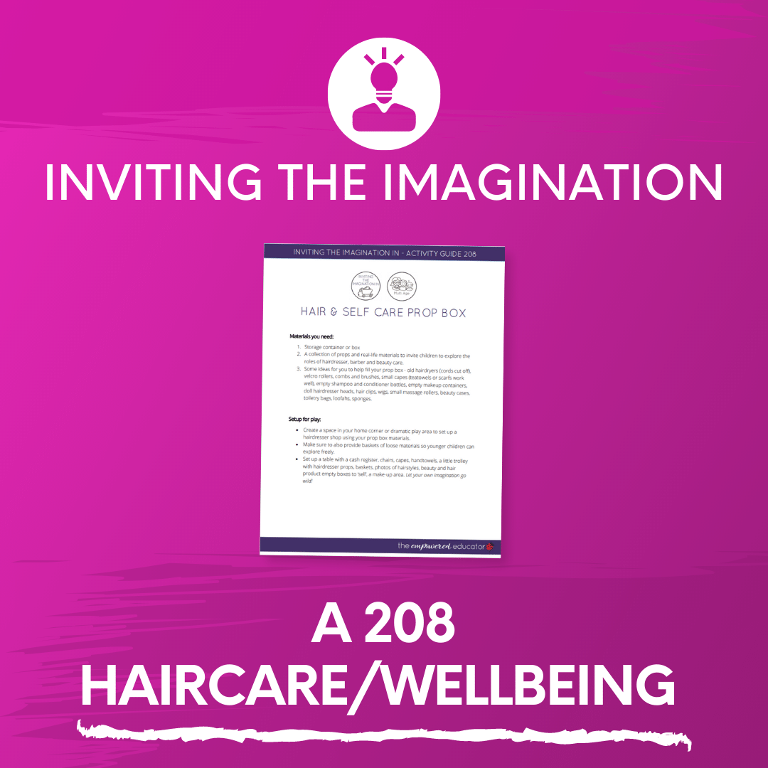 A 208 Haircare Wellbeing Prop Box