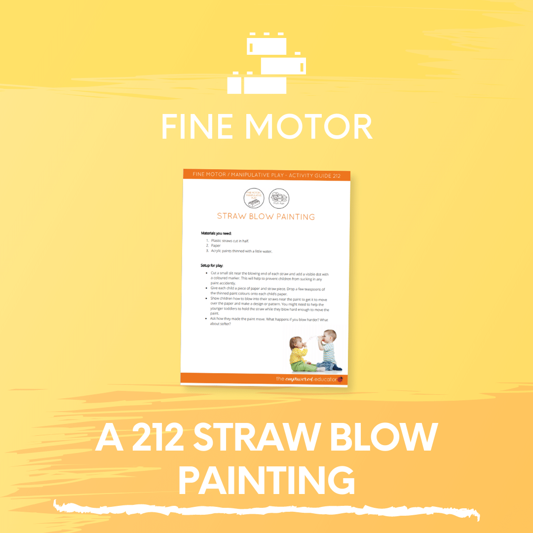 A 212 Straw Blow Painting