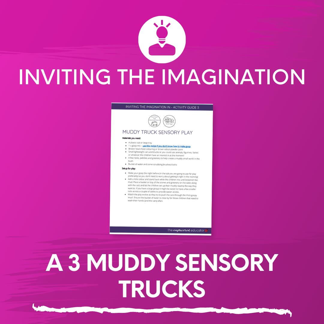 A 3 Muddy Sensory Trucks