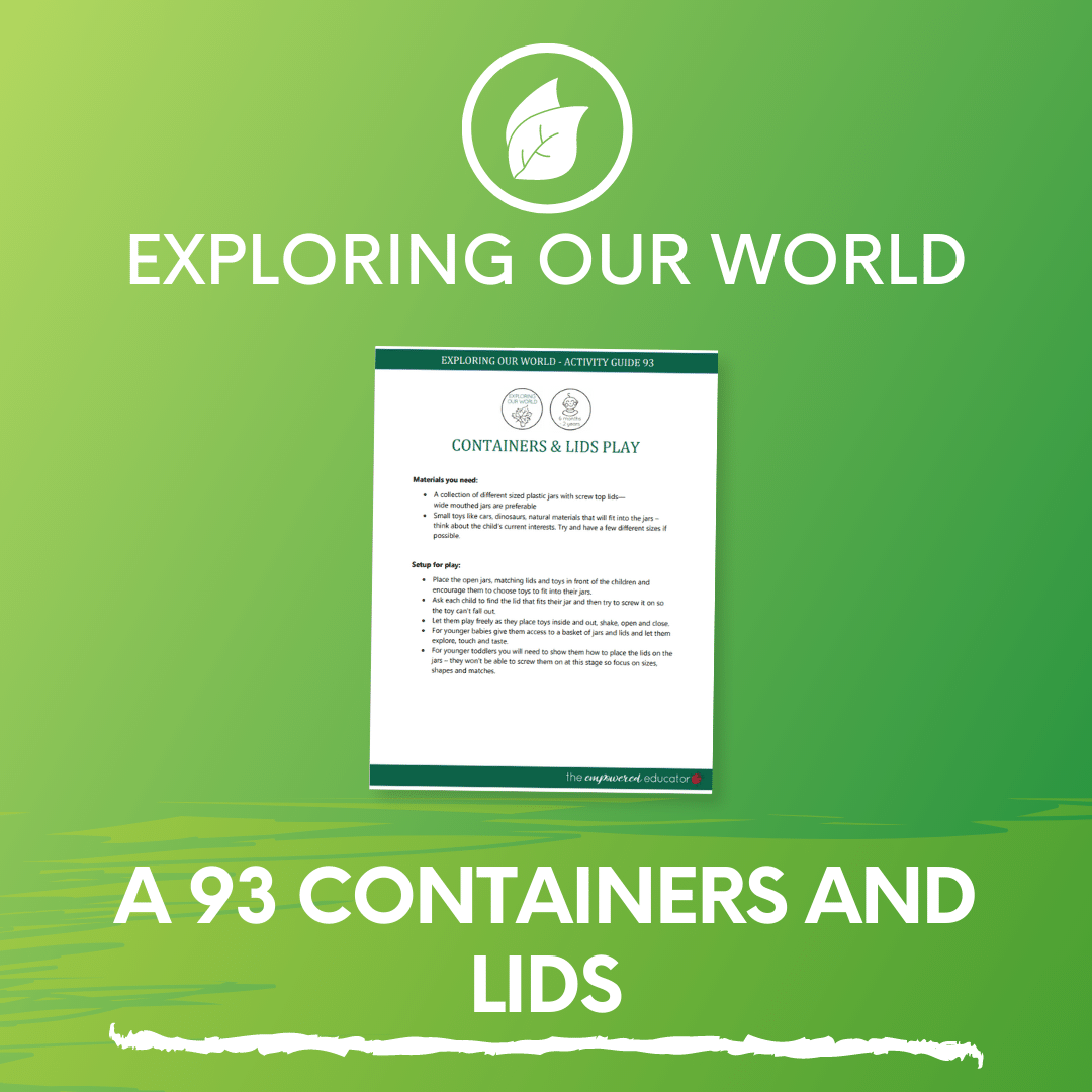 A 93 Containers and Lids