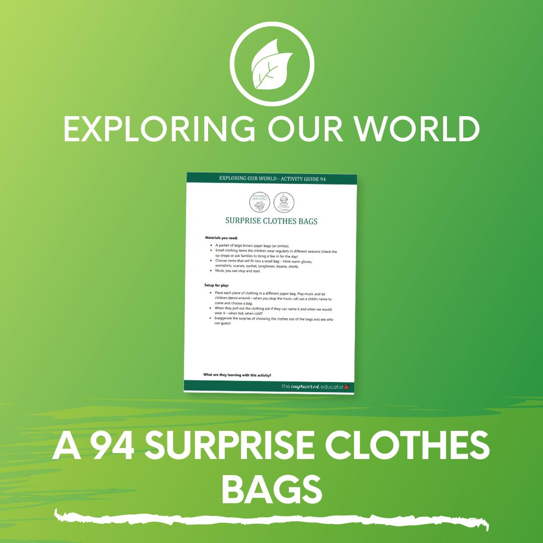 A 94 Surprise Clothes Bags