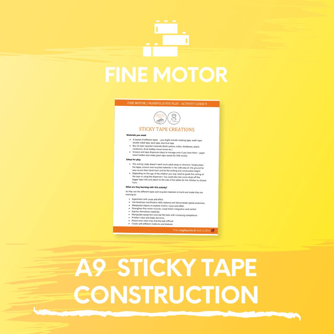 A9 Sticky Tape Construction