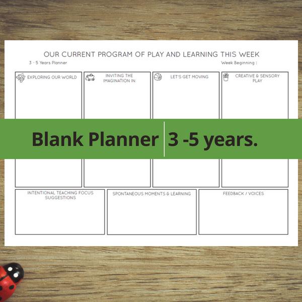 Blank Planner 3 - 5 years