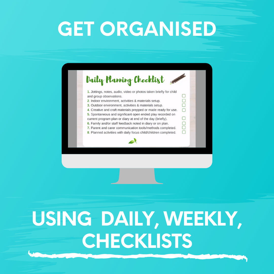 DAILY, WEEKLY, CHECKLISTS