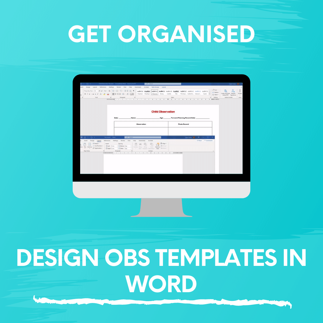 DESIGN OBS TEMPLATES IN WORD