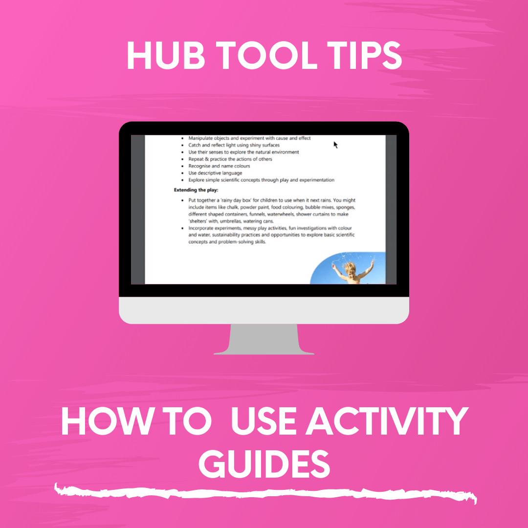 HOW TO USE ACTIVITY GUIDES