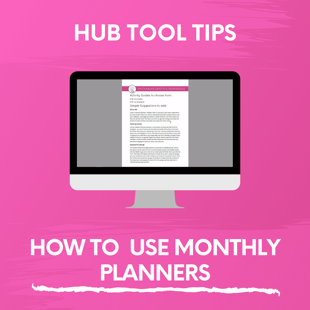 HOW TO USE MONTHLY PLANNERS