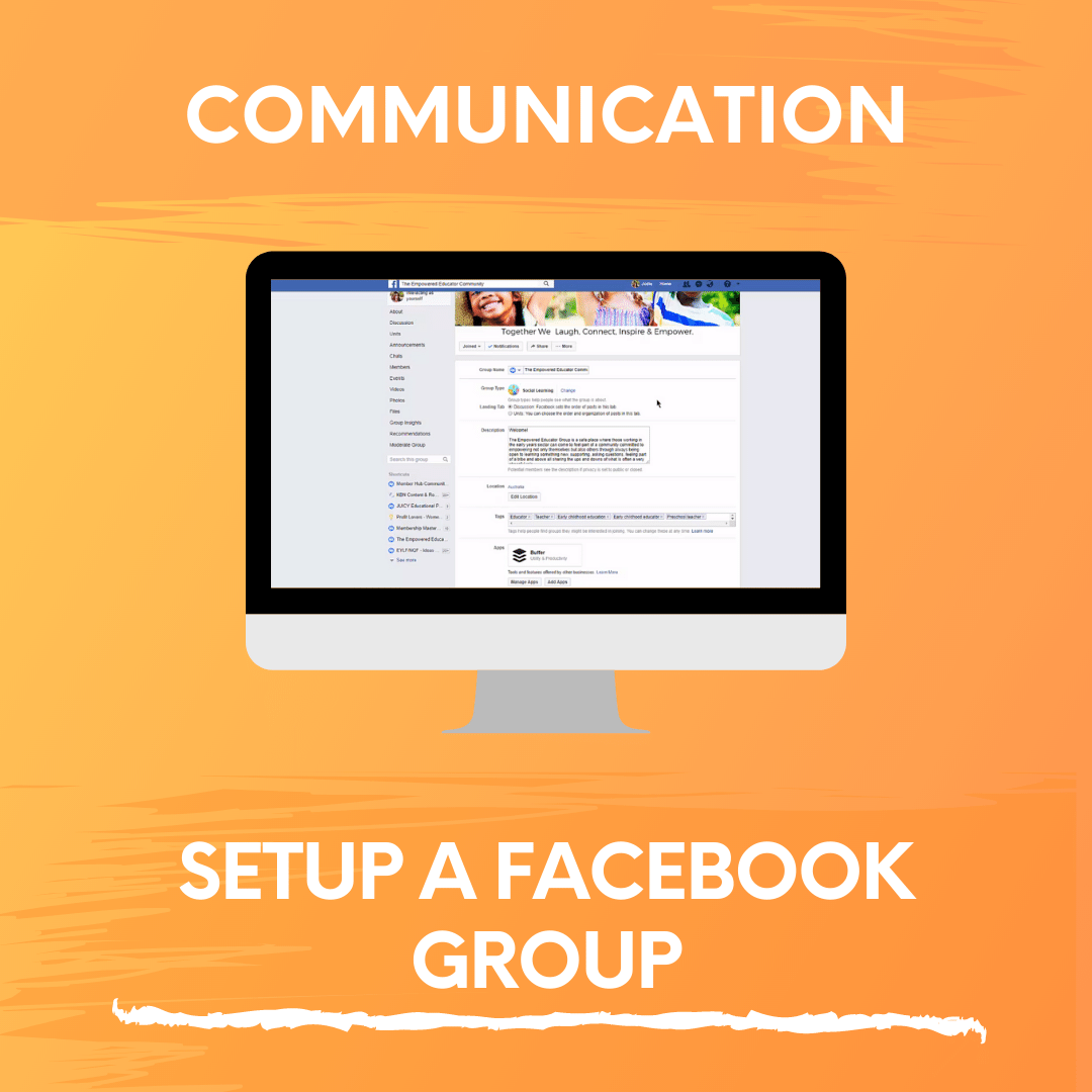 SETUP A FACEBOOK GROUP