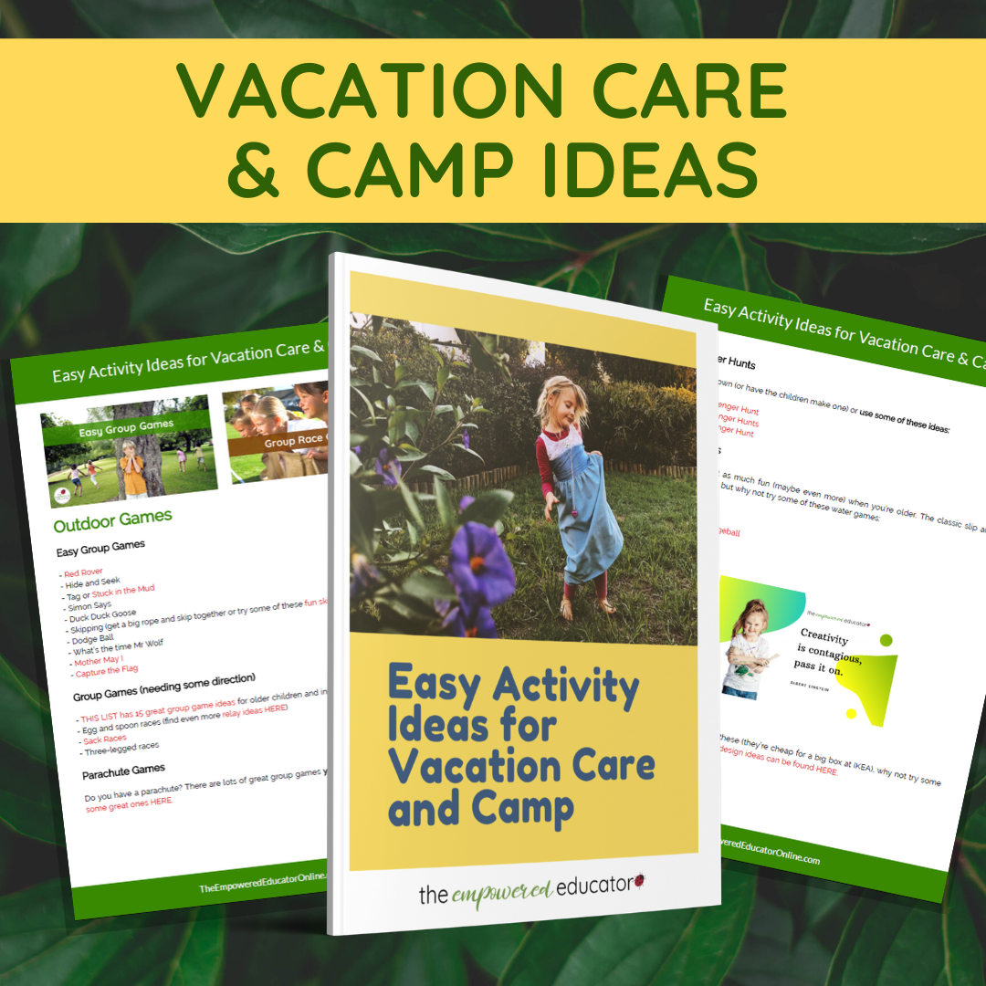 Vacation Care and Camp Ideas