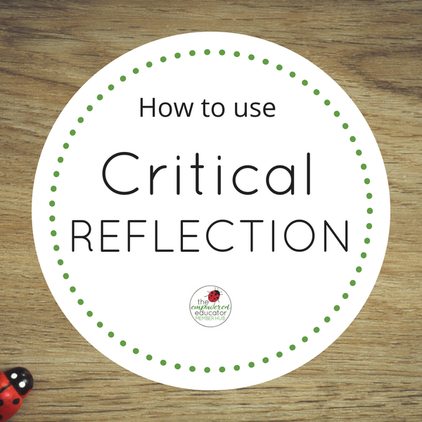 how to use critical reflection