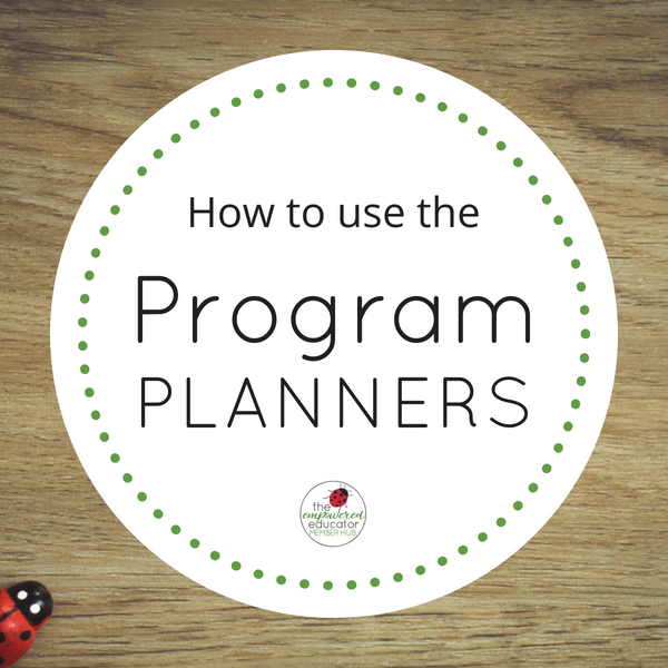 how to use the program planners