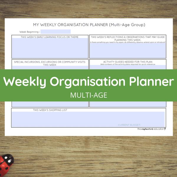 weekly organisation planner multi-age